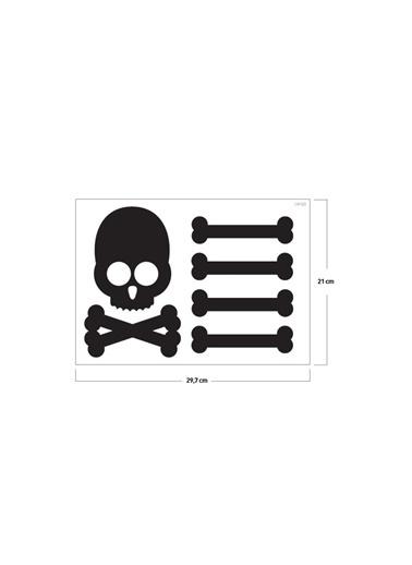 Disney Achtung Klozet Sticker 12X19 Cm Renkli